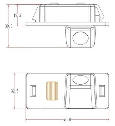 cúvacia kamera pre Audi A1, A4, A5, Q5, TT, A6, A7, Q3, Q7