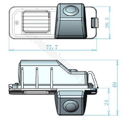 cúvacia kamera pre VW Polo Golf Passat Scirroco Beetle