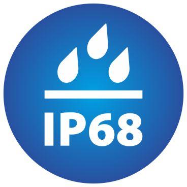 ikona znázorňujúca stupeň vodeodolnosti kamery IP68